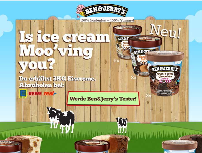 Ben & Jerry´s Produkttest