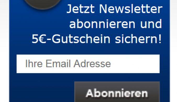 Anzuege.de Gutschein Newsletteranmeldung