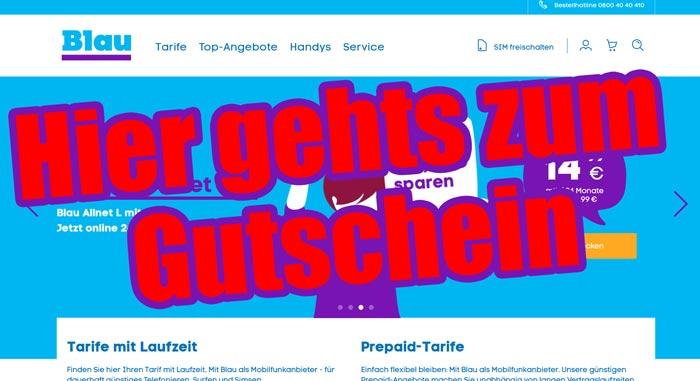Blau Gutschein
