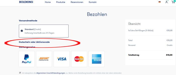 Boldking für 2€ einlösen