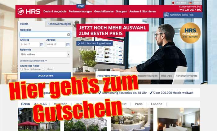 HRS Gutschein neu
