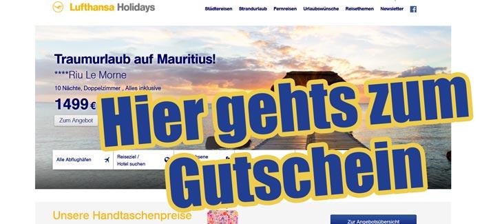 Lufthansaholidays com Gutschein