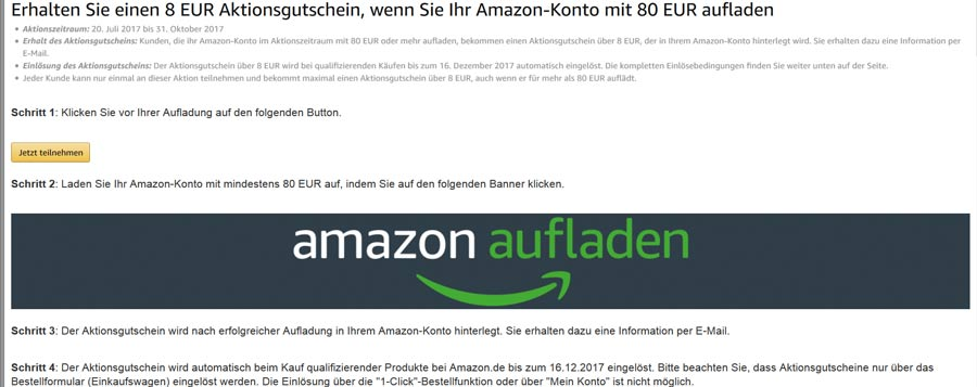 amazon hacks part2 aufladen