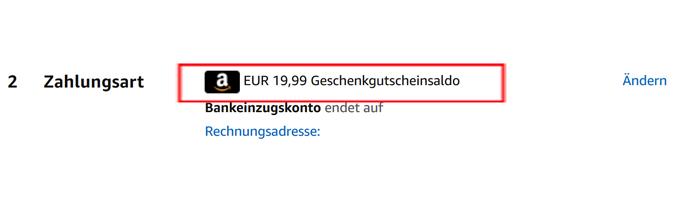 amazon hacks part2 Geschenkgutschein konto