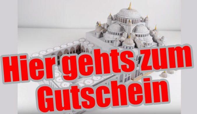 79 Papiermodelle berühmter Architektur